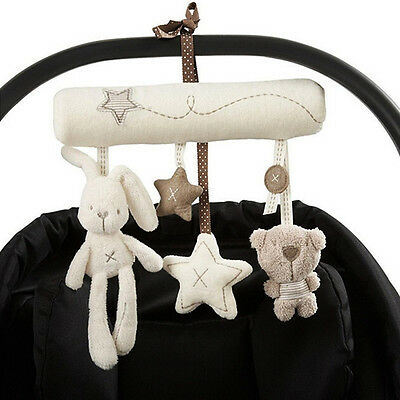 Cute Bunny Baby Infant Activity Musical Toy Rattle Crib Stroller Pram Car Seat