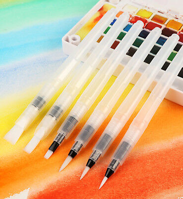 6Pcs Large Capacity Water Paint Brush Set Painting Drawing Pen Art Supplies