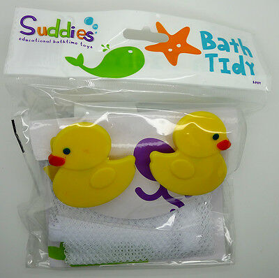 New Baby Duck Bath Tidy Bathroom Toy Storage Net Play
