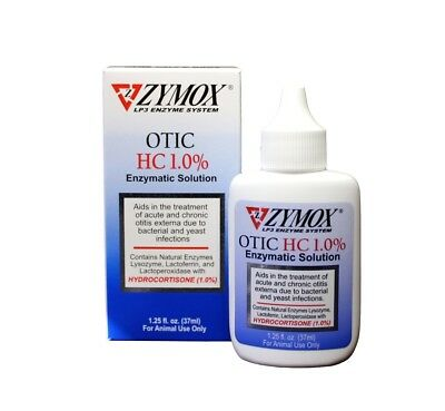 Zymox Otic Enzymatic Solution with Hydrocortisone (1.25 oz)