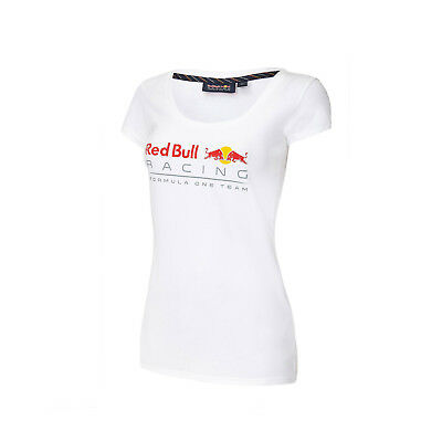 Damen-T-Shirt Front Logo Weiß Infiniti Red Bull Racing FAN Größe XS