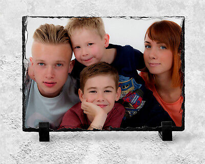 Personalised Photo Image Memorial Slate Plaque Beautiful Words - YOUR Picture