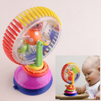 Children Educational Toy Rainbow Ferris Wheel Rattle Clanking Suction High Chair