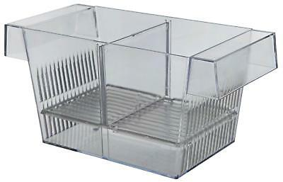 Aquarium Fish Hatchery 3 Chamber Floatable Breeding Trap with Removable Divider