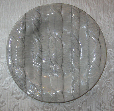 "NWOT ~ VIETRI Cable Knit Gray Salad Bread Dessert Plate from Italy ~ 9"" ~ MINT"