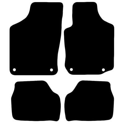 Tailored Black Car Floor Mats Carpets 4pc Set with Clips for Vauxhall Corsa C