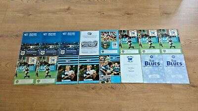 Bedford Rugby Union Programmes 1991 - 2004