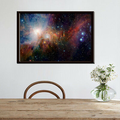 Space Galaxy Universe Planet Poster Fabric Silk Painting Wall Printing Art Home