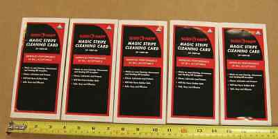 dollar bill acceptor cleaning cards for vending machines & arcade games - qty. 5