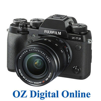 NEW Fujifilm X-T2 18-55mm Kit Black Mirrorles 24.3MP 4K Wifi Camera 1 Yr Aus Wty