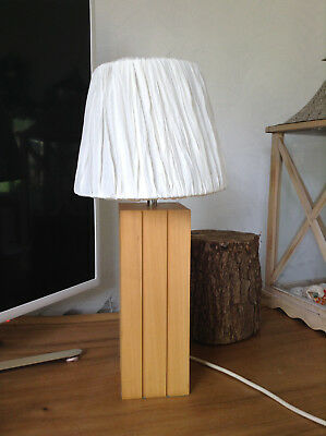 John Lewis Solid Oak Lamp Base - Solid Oak - Bedside / Desk / Table