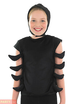 Child Spider Costume Boys Girls Halloween Scary Insect Fancy Dress Animal Outfit