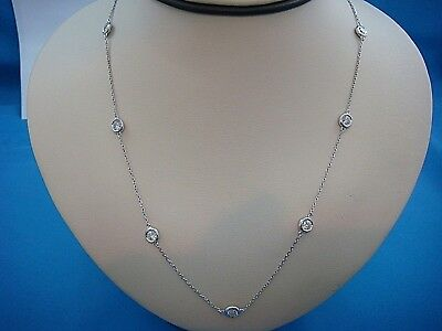 "2.35 Carat T.w. 9 Stations Large Diamonds ""diamonds By The Yard"" Necklace,18"""