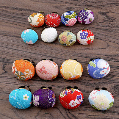 Pin Cushion Floral Pattern Ring Alloy Made Sewing Women Tool DIY Randome Color