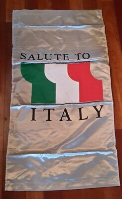Salute to Italy Two-Sided Italian Flag Banner, 24 x 46, Rod Pocket Ends, Several