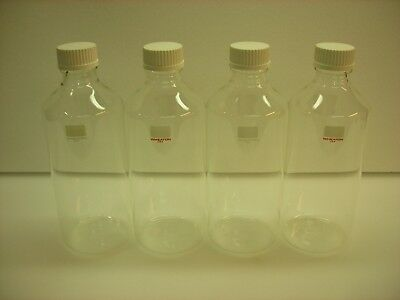 Case of 4 Wheaton Glass Laboratory Clear Roller Bottles w/ Screw Cap 348273 NEW