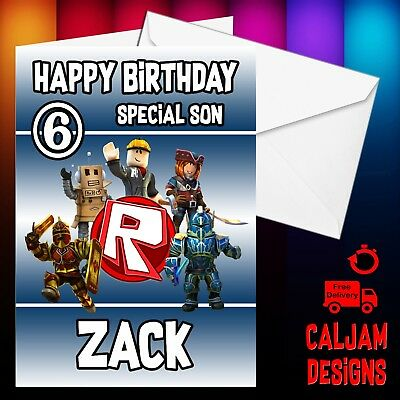 RoBlox  Personalised birthday card with Envelope any wording son grandson nephew