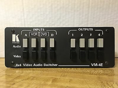 Kramer VM-4E 4 x 4 Video Audio Switcher
