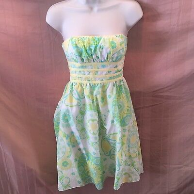 LILLY PULITZER STRAPLESS Floral Dress Size