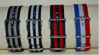 NYLON NATO WATCH STRAP BAND ARMY MILITARY DIVERS G10 MENS 18mm 20mm 22mm