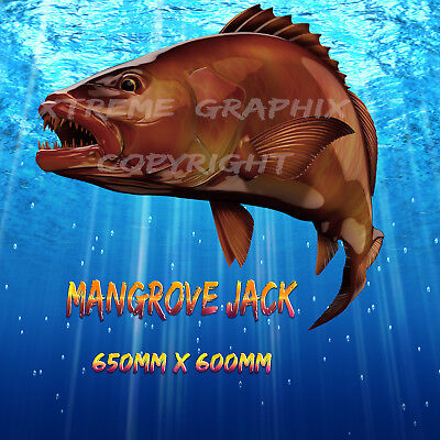 Mangrove Jack Decal Left&right 650Mm X 600Mm  Boat / Car / Truck