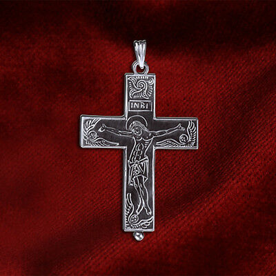 Silver Christian Orthodox Byzantine Reliquary Cross