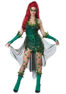 Womens Lethal Beauty Poison Ivy Size L (10-12) 2X (18-20) (Missing Tights)