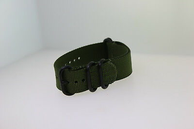 9ca84e49f56e 5 Ring Ballistic Army Military Green Nylon Replacement Watch Band Strap PVD  20mm
