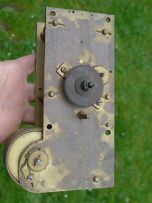 ANTIQUE Ex. VERGE now ANCHOR FUSEE early dial clock movement with shaped plates