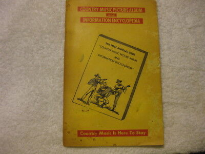 Vintage Country Music Picture Album & Information Encyclopedia 1960s