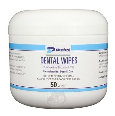 Dental Wipes for Dogs & Cats (50 count)