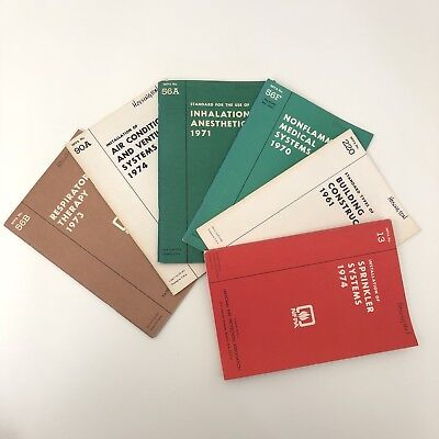 1970s NFPA National Fire Protection Association Vintage Safety Code Book Lot 6