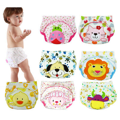 New  Cute Design Baby Toddler Potty Toilet Training Pants  Reusable M/L/XL
