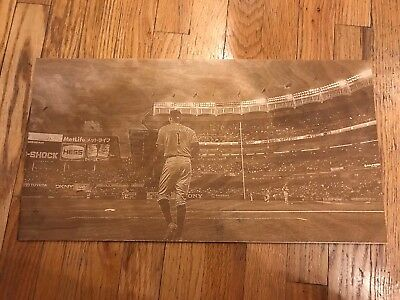 Carlos Correa image engraved on birch plywood with laser engraver