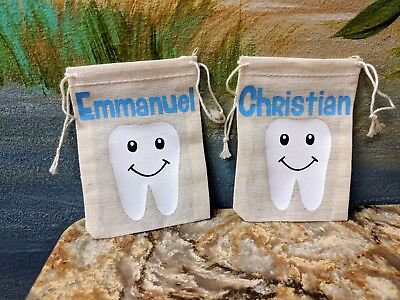Tooth Fairy Bag/Pouch/Sack; Personalize with Child's Name