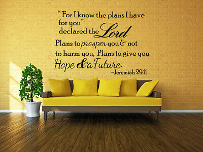 Bible Verse Wall Decals Stickers Decor Scripture Vinyl Art Religious Home Quote