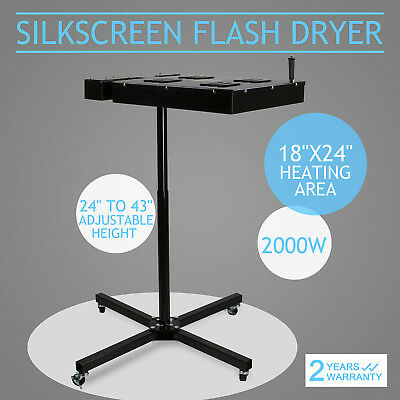 "18"" X 24"" Flash Dryer Silkscreen T-shirt Printing Curing Adjustable Height"