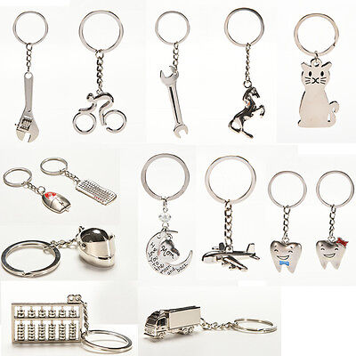 New Creative Metal Keychain  Key Ring Key Chain Key 12 Pattern Choose Decor LJ