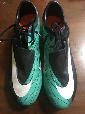 half off be15f f5ead Men s Nike Mercurial Vapor VI Dark Obsidian White Cool Mint Mens Size 13