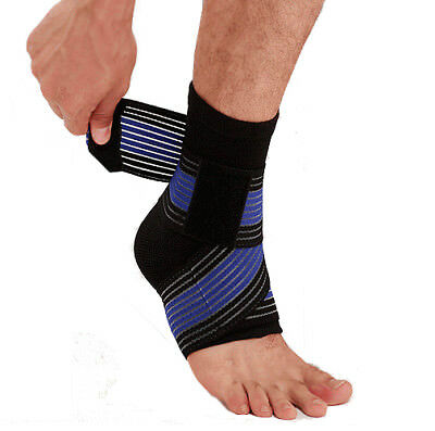 Elastic Sport Ankle Support Sleeve & Bandage Wrap Compression Foot Brace Protect