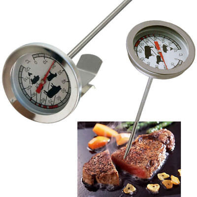 BBQ Thermometer Bratenthermometer Edelstahl Gasgrill Grillthermometer 60°C-430°C