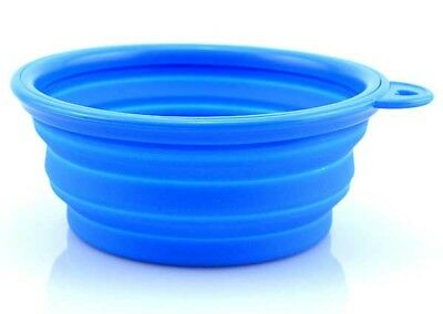 Dog Puppy Pet Food Water Bowl Silicone Cat Feeder Dish Container