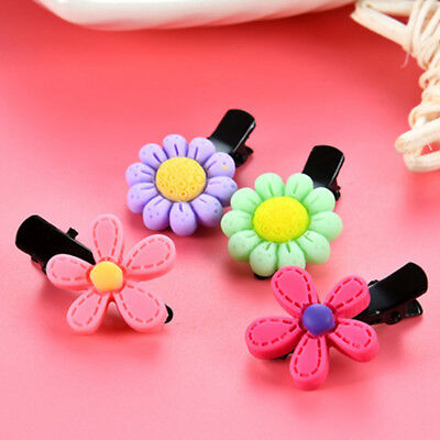 5pcs/lot Cute Baby Girls Resin Cartoon Flower Clip Barrettes Hairpins Hair Decor