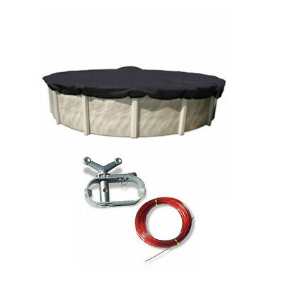 24' Round Economy Above Ground Swimming Pool Winter Cover 8 Year Warranty