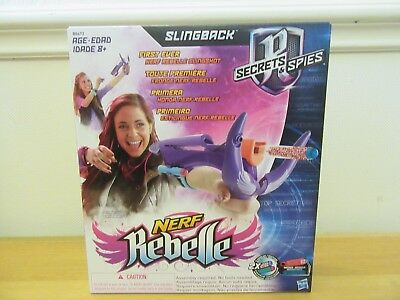 Brand New Nerf Rebelle Secrets & Spies Slingback Blaster Girls