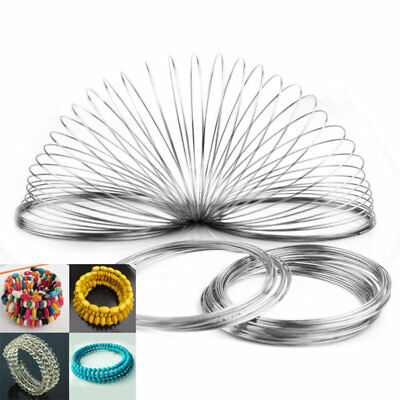 60/100 Loops 6cm Memory Stainless Steel Wire Cuff Bangle Bracelet Jewelry Maki