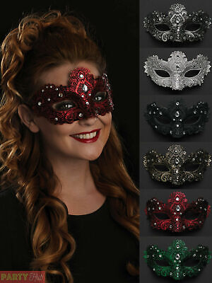 Ladies Masquerade Eye Mask Womens Fancy Dress Venetian Ball Costume Accessory