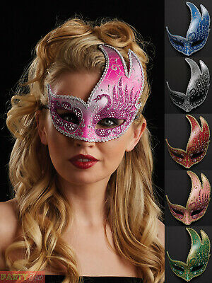 Ladies Masquerade Ball Eye Mask Womens Venetian Fancy Dress Costume Accessory