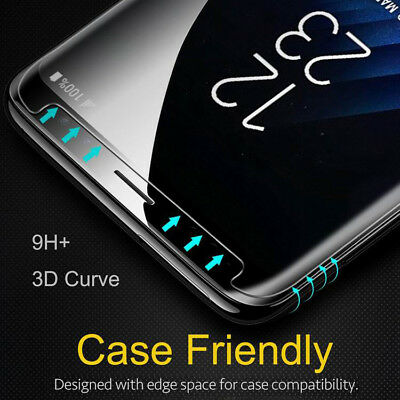 For Samsung Galaxy S9 S8 Plus 3D Tempered Glass Screen Protector Protective Film