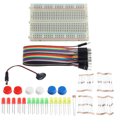 LED Electronic Starter Kit Mini Breadboard Jumper Wire Tested for Arduino UNO R3